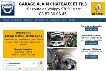 realisation de sites web : site garage-chateaux-mets