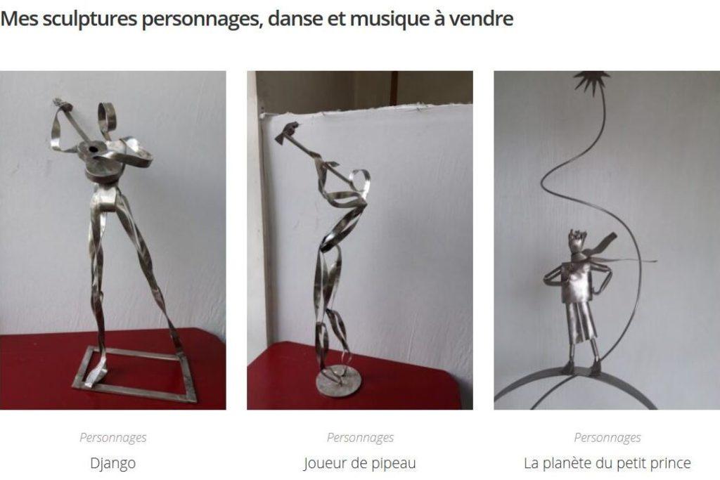 site web de Sophie Raine sculpteur